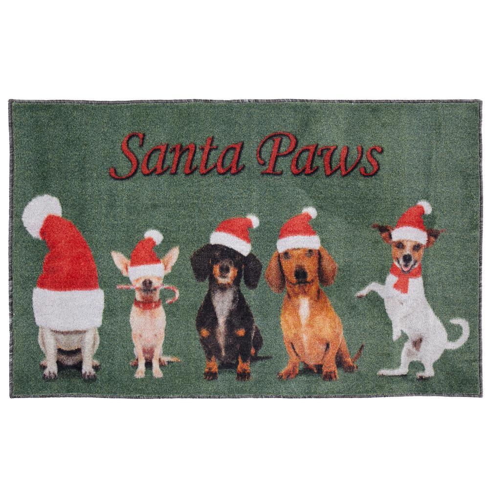 Santa Paws Multi 2 ft. 6 in. x 4 ft. 2 in. Area Rug