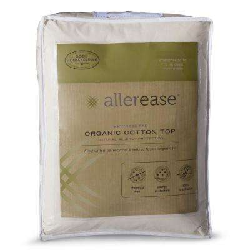 Organic Queen Cotton Top Mattress Pad