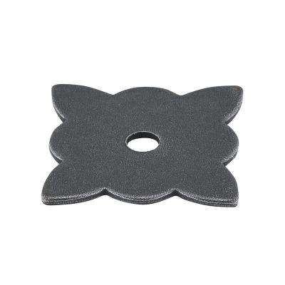 1-3/8 in. Natural Iron Knob Backplate