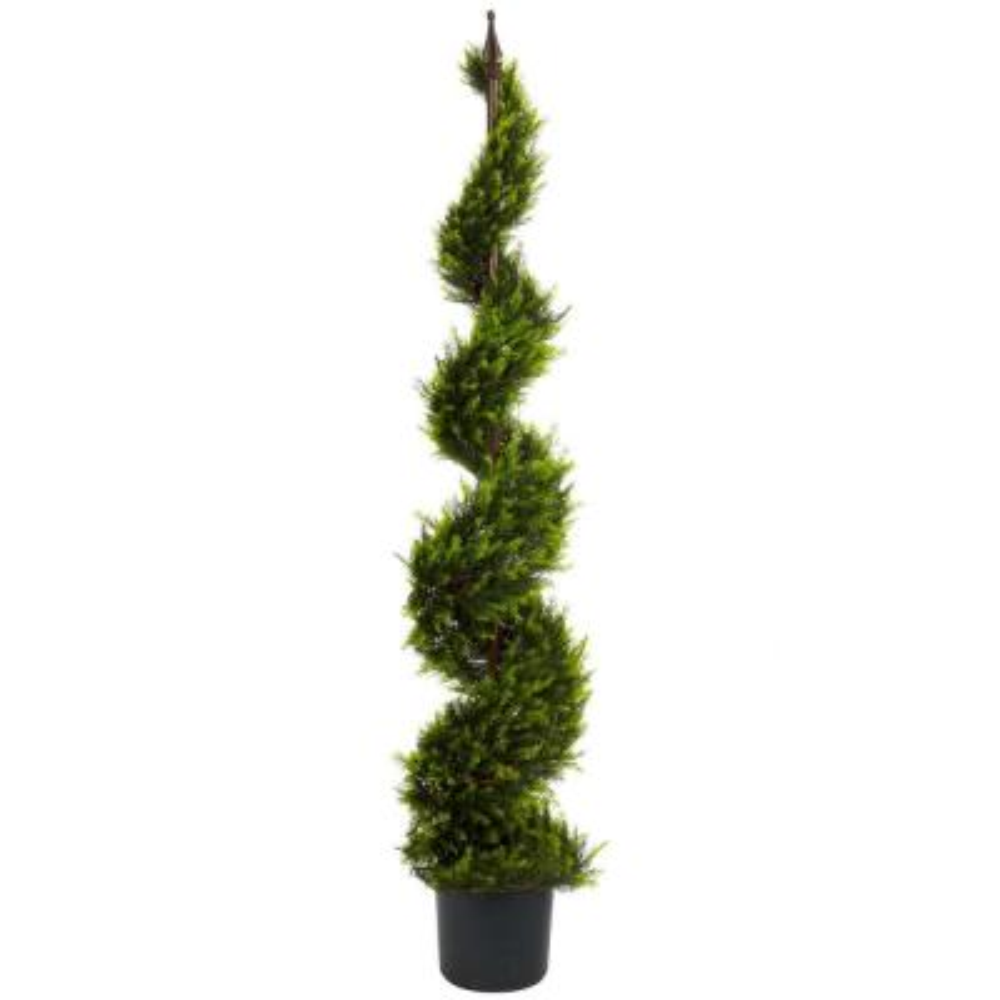 5 ft. Green Cypress Spiral Tree