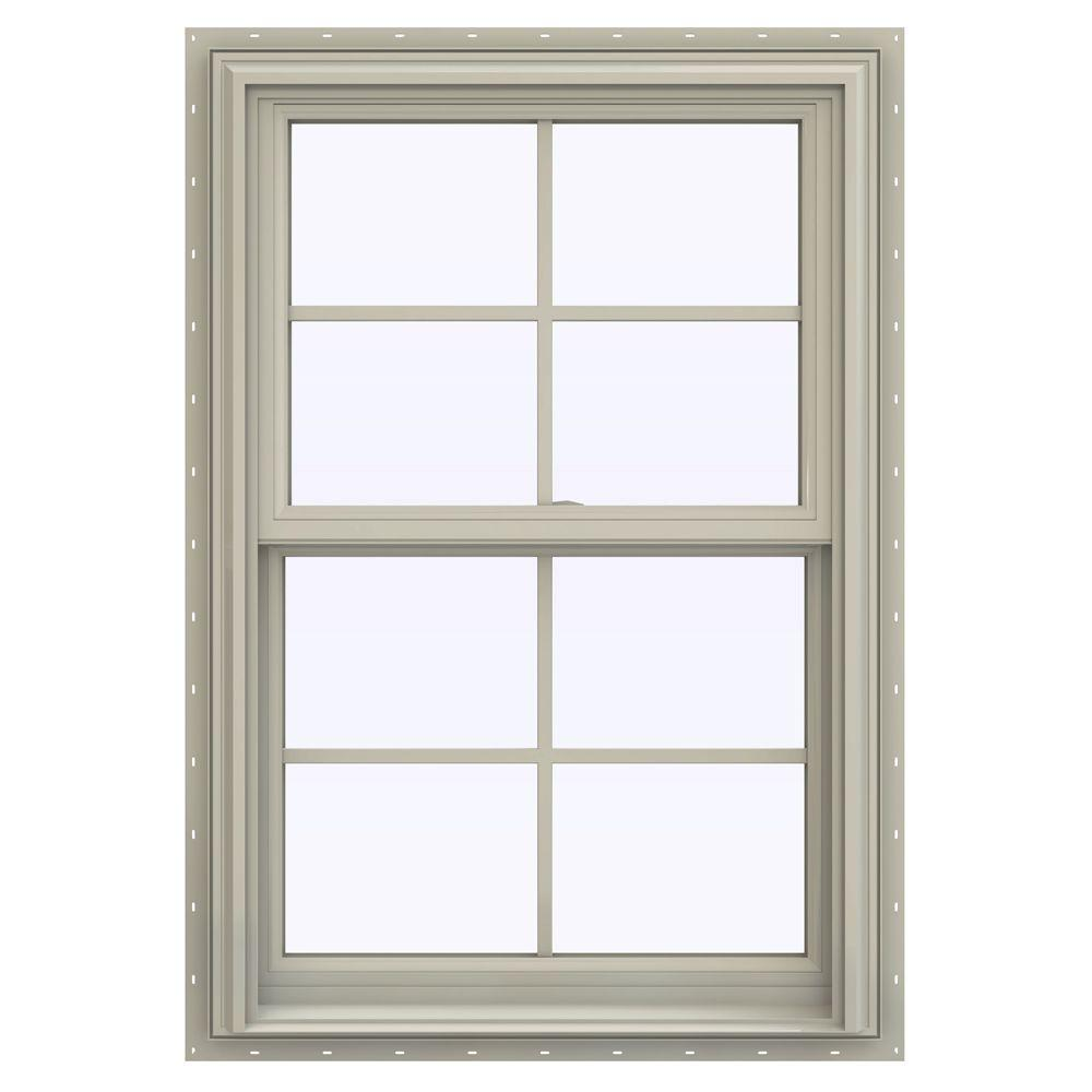 27.5 in. x 47.5 in. V-2500 Series Desert Sand Vinyl Double