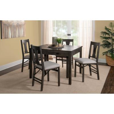 Kent Grey Expandable 5-Piece Console Dining Set