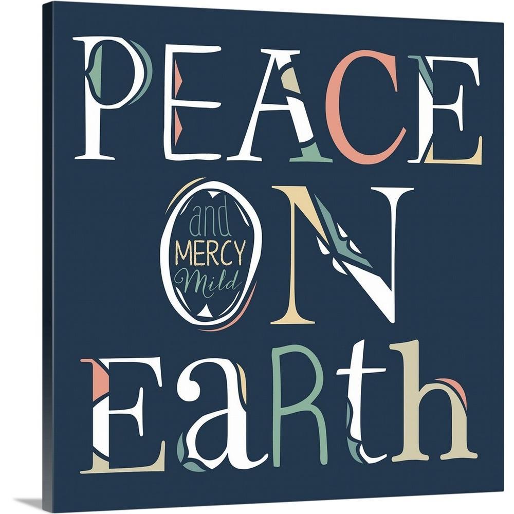 Peace Joy Love Poster Print by Cindy Shamp 24 x 24