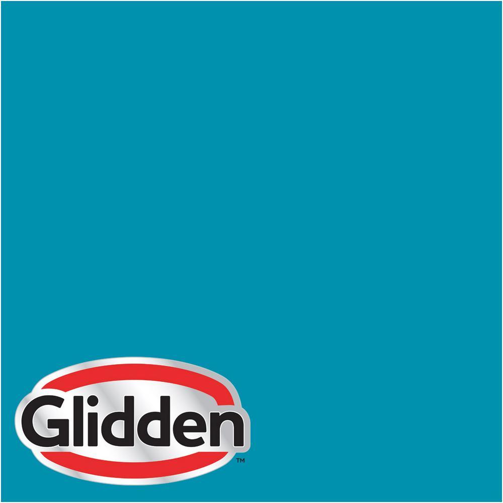 Glidden Premium 1 Gal Hdgb40 Caribbean Sea Eggshell Interior Paint With Primer Hdgb40p 01en The Home Depot