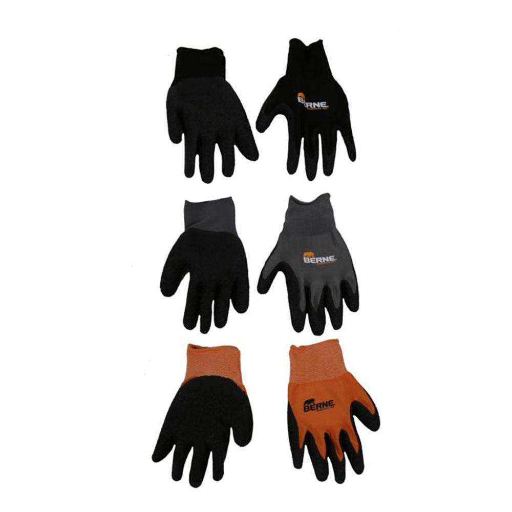 Large Black Quick-Grip Gloves (3-Pack)