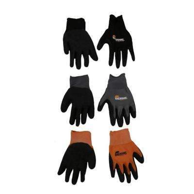 Extra Large Black Quick-Grip Gloves (3-Pack)