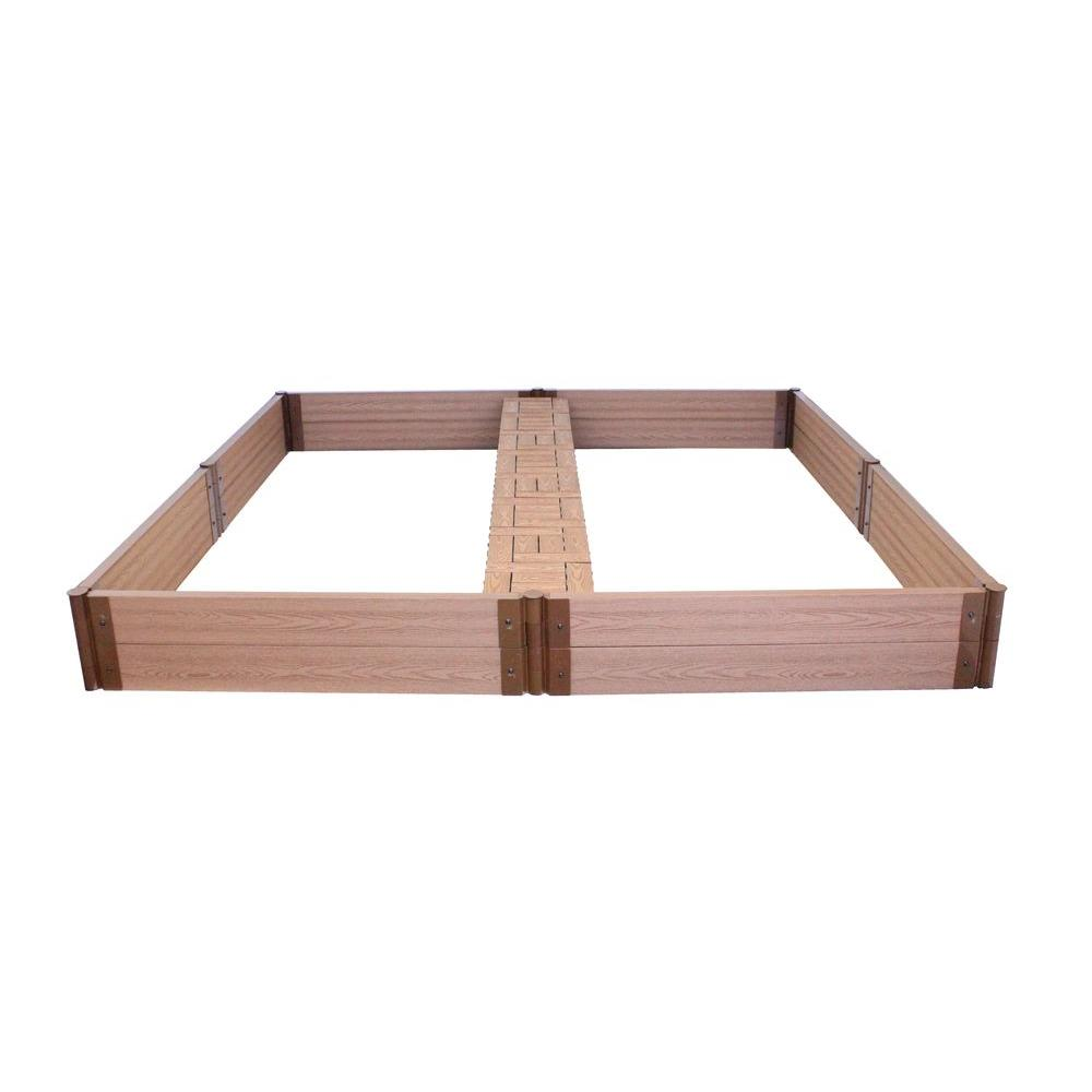 Frame It All 8 ft. x 8 ft. x 12 in. Raised Garden Bed with Garden Tiles-DISCONTINUED