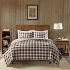 Woolrich Buffalo Check 3-Piece Tan King/Cal King Oversized Quilt Mini Set