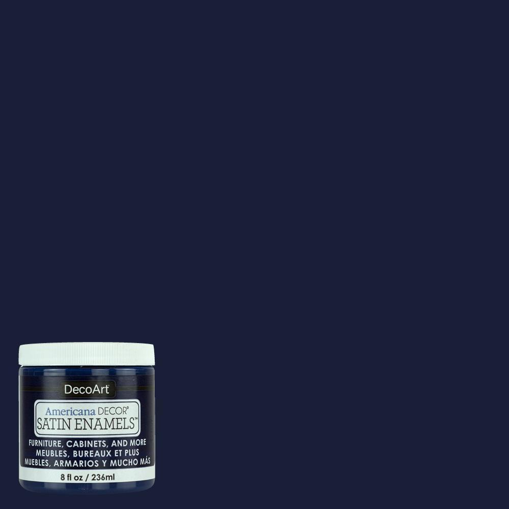 8 oz. Dark Denim Satin Enamel Paint