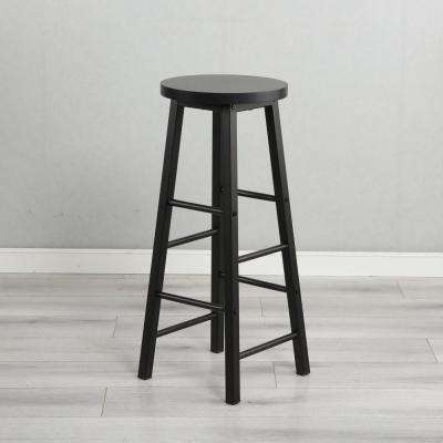 Modern Black 29 in. Bar Stool with Metal Frame(Set of 2)