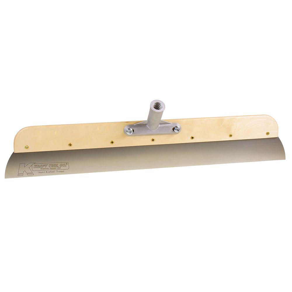 24 in. Wood Frame Stainless Steel Smoother with Bracket