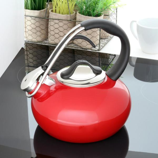 Chantal - Classic Loop 7.2-cups Enamel-On-Steel Chili Red Tea Kettle