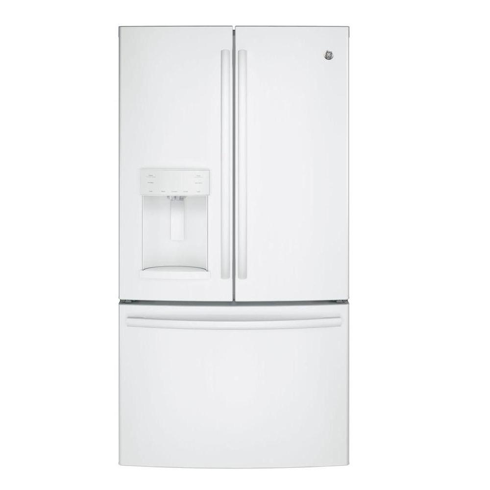 Ge 27 8 Cu Ft French Door Refrigerator In White