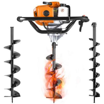 52 cc 2 Stroke Gas Powered Posthole Digger Earth Auger Drill for Fence and Planting