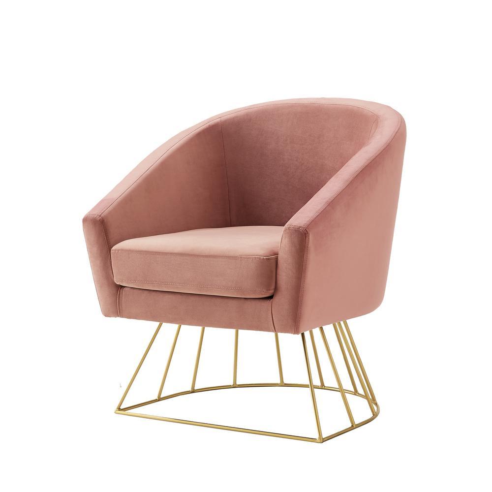 Astounding Inspired Home Esmeralda Velvet Blush Gold Modern Ocoug Best Dining Table And Chair Ideas Images Ocougorg
