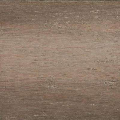Take Home Sample - Hand Scraped Strand Woven Light Taupe Click Tile Bamboo Flooring - 5 in. x 7 in.
