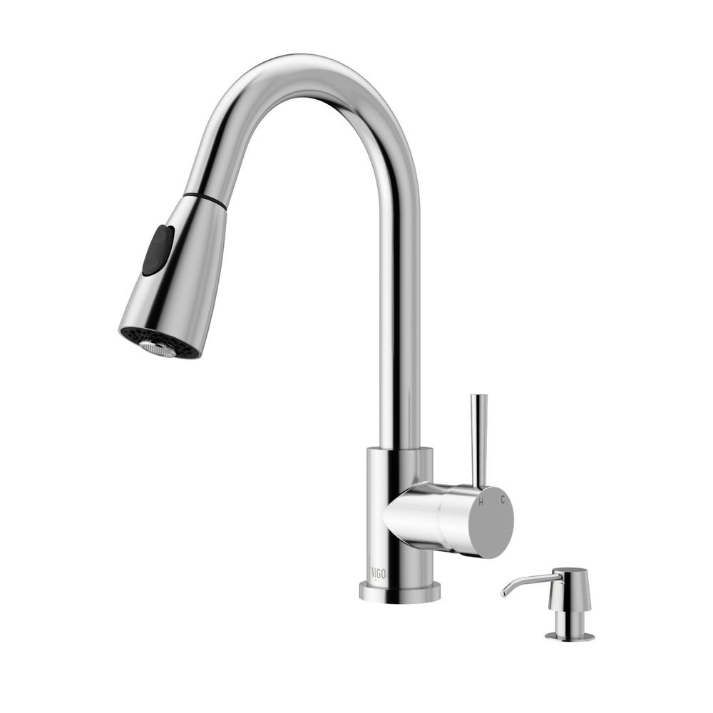 Weston Single-Handle Pull-Down Sprayer Kitchen Faucet with Soap Dispenser in
