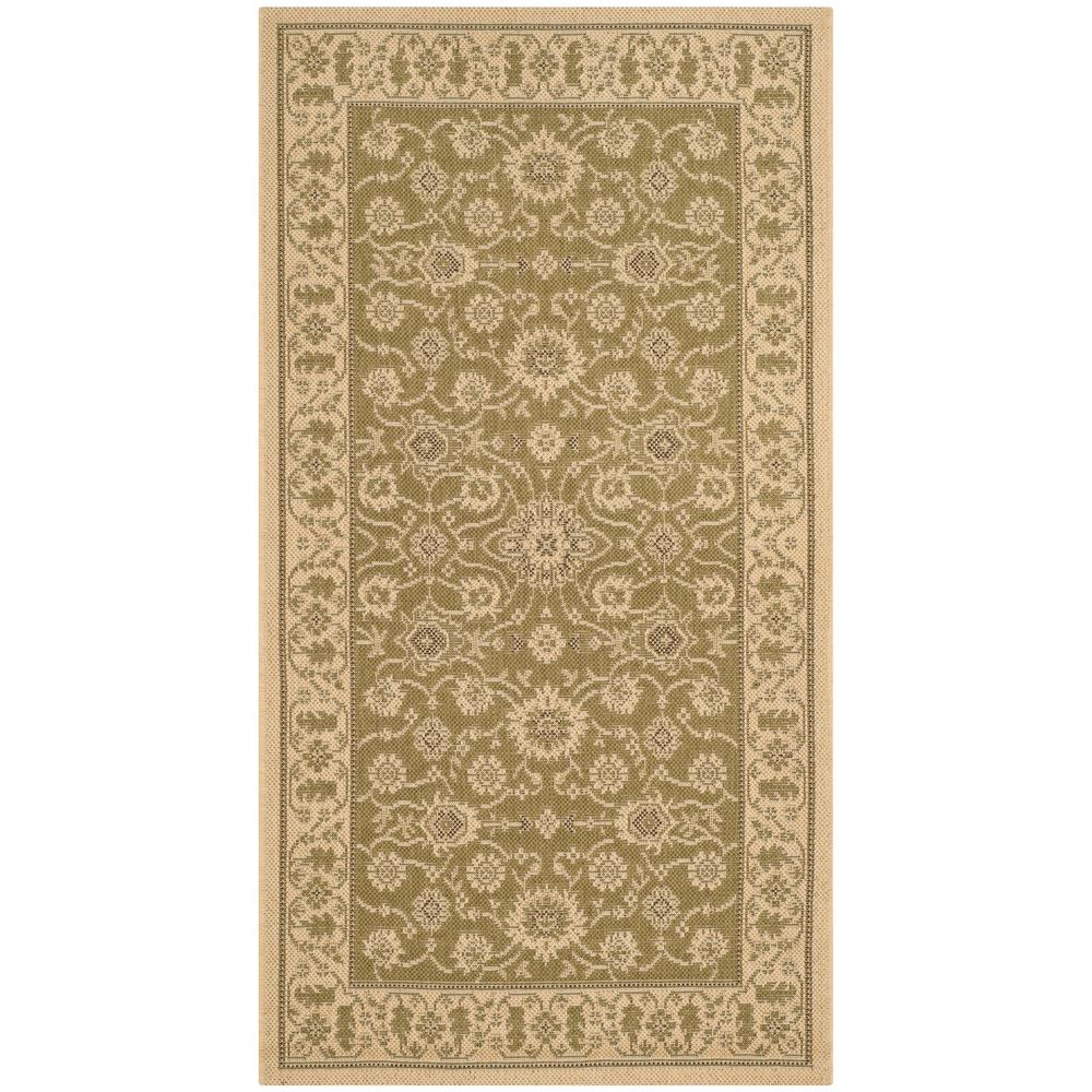 Safavieh courtyard green cream 2 ft 7 in x 5 ft indoor for Green and cream rugs