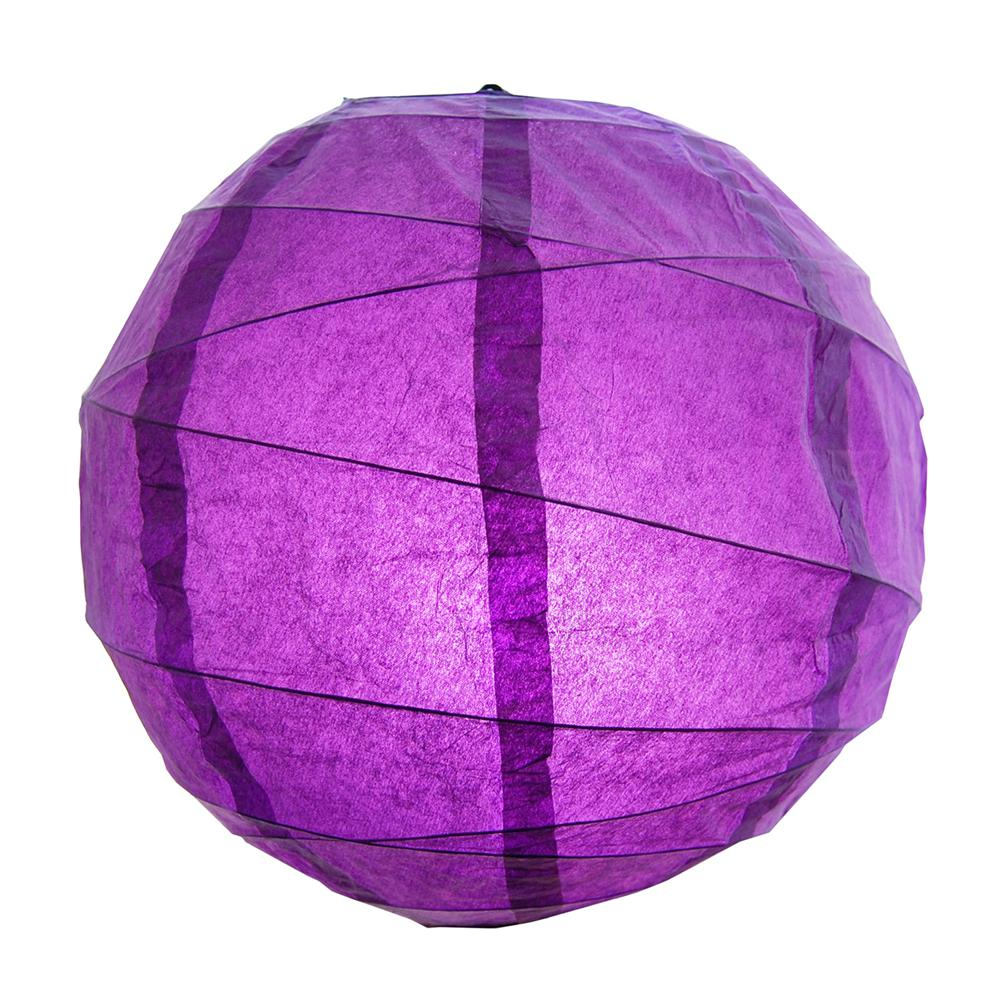 CrissCross 12 in. x 12 in. Purple Round Paper Lantern (5-Pack)