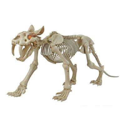 82 in. Animated Skeleton Sabretooth with LED Eyes