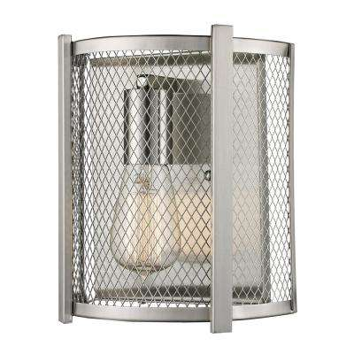 Mist 1-Light Brushed Nickel Sconce