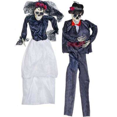 36 in. Halloween Hanging Bride and Groom (Set of 2)