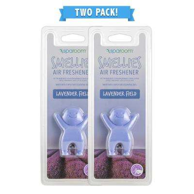 Smellies Lavender Field Car Air Freshener Vent Clip 2 Pack