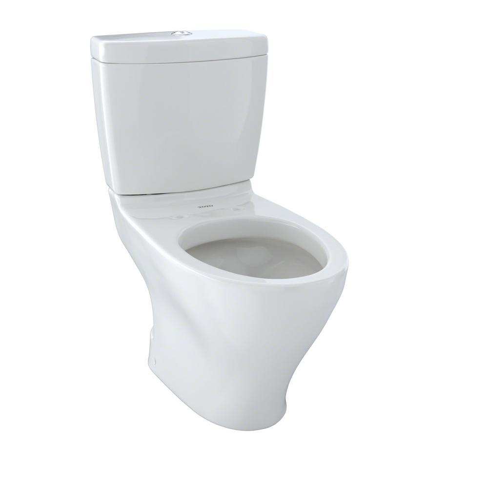 TOTO Aquia 2-Piece 0.9/1.6 GPF Dual Flush Elongated Toilet in Colonial White