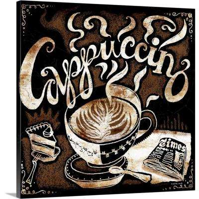 """""""Cappuccino, Cake and Newspaper"""" by Peter Horjus Canvas Wall Art"""