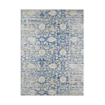 HomeRoots Bernadette Blue/Gray 5 ft. x 7 ft. Abstract Polypropylene Area Rug