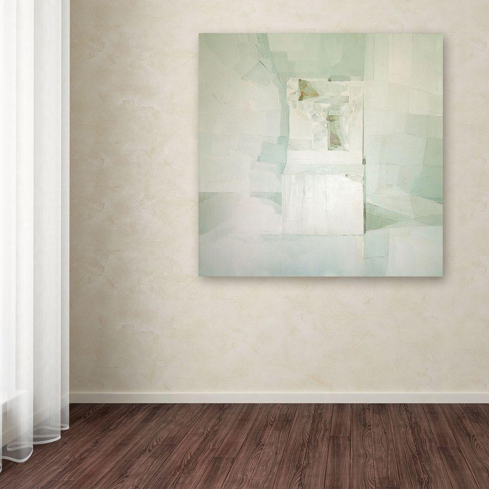 null 24 in. x 24 in. White Canvas Art