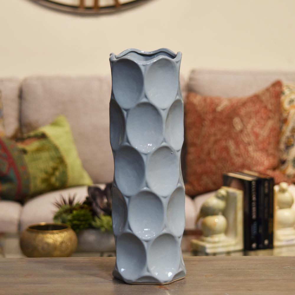 Gray Gloss Finish Ceramic Decorative Vase