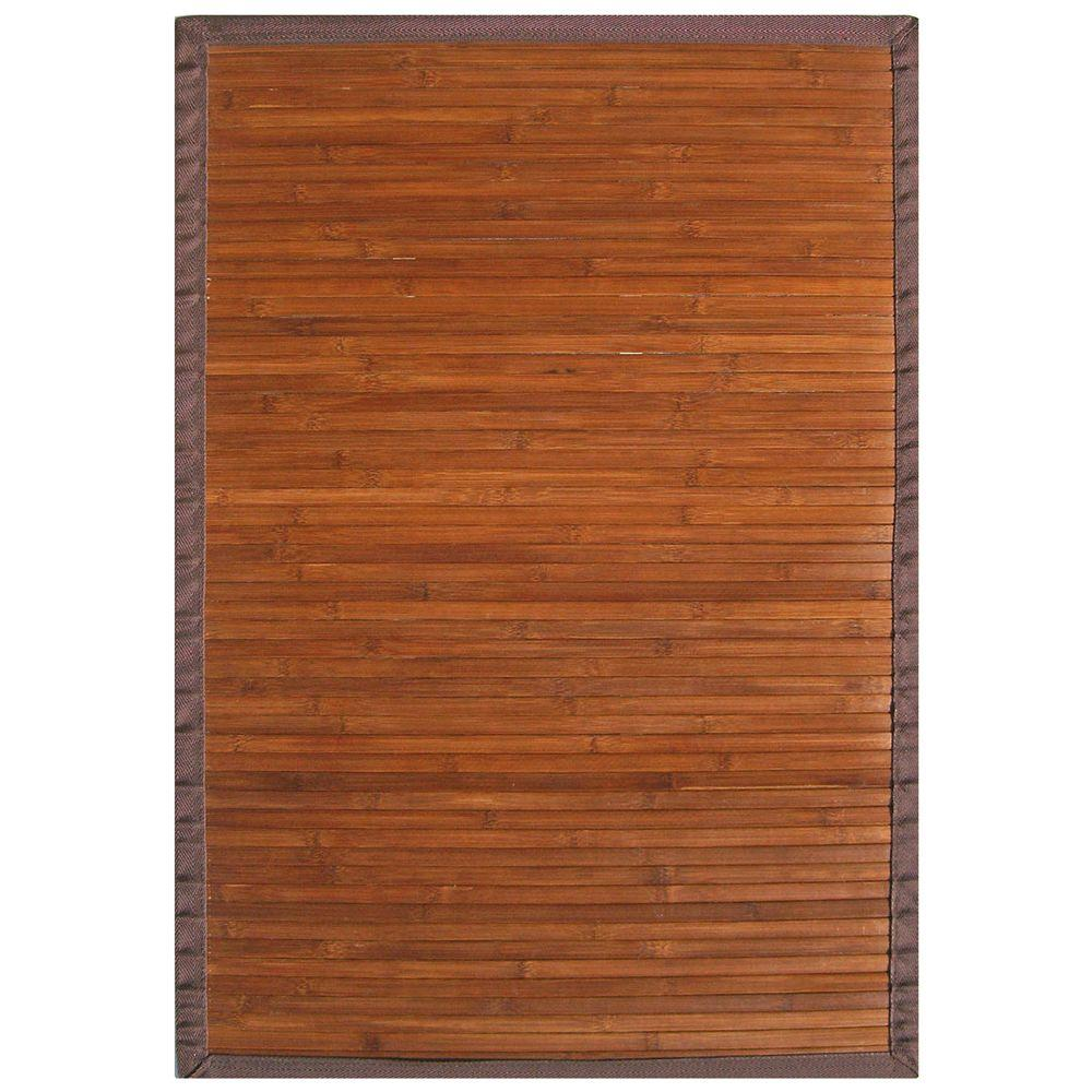 Anji Mountain Contemporary Chocolate Brown 2 ft. x 3 ft. Area Rug