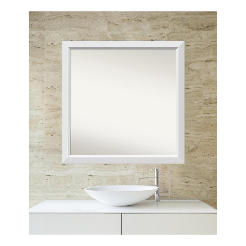 Amanti Art 34 in. x 34 in. Blanco White Wood Framed Mirror was $470.11 now $229.88 (51.0% off)