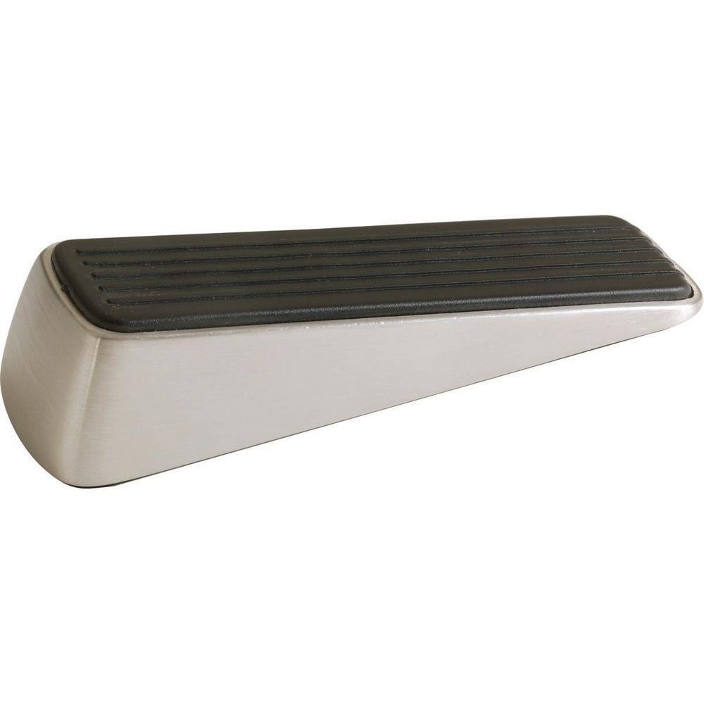 designer satin nickel door wedge - Designer Door Stops