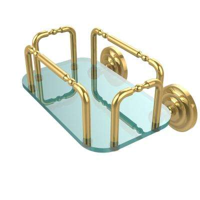 Que New Wall Mounted Guest Towel Holder in Unlacquered Brass