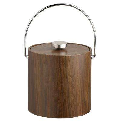 Woodcraft 3 Qt. Walnut Ice Bucket and Lid with Bale Handle