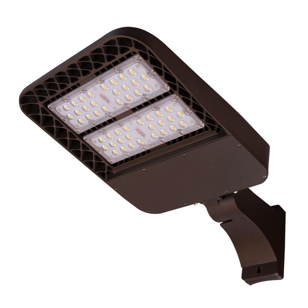 Aquila 550-Watt Equivalent Integrated LED Bronze Type 3 Lens Area light 5000K