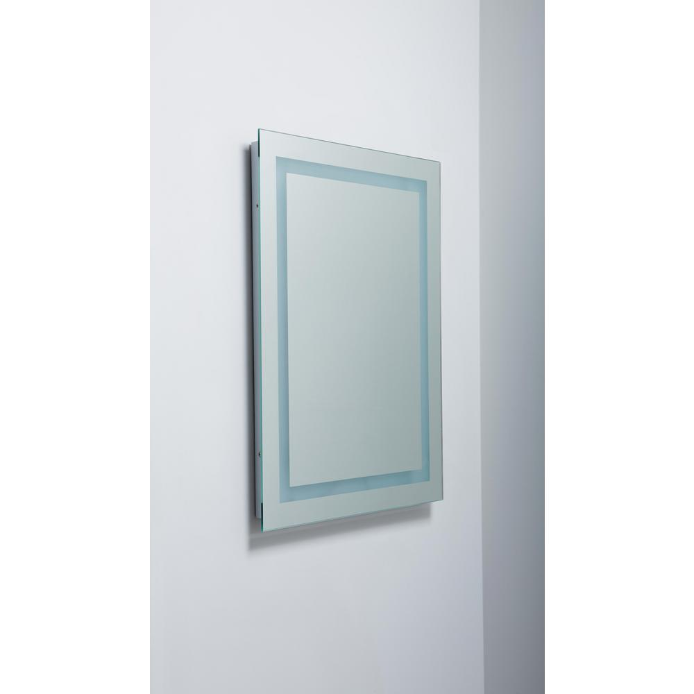 Portofino 32 In X 2368 In Backlit Wall Mounted Led Makeup Or