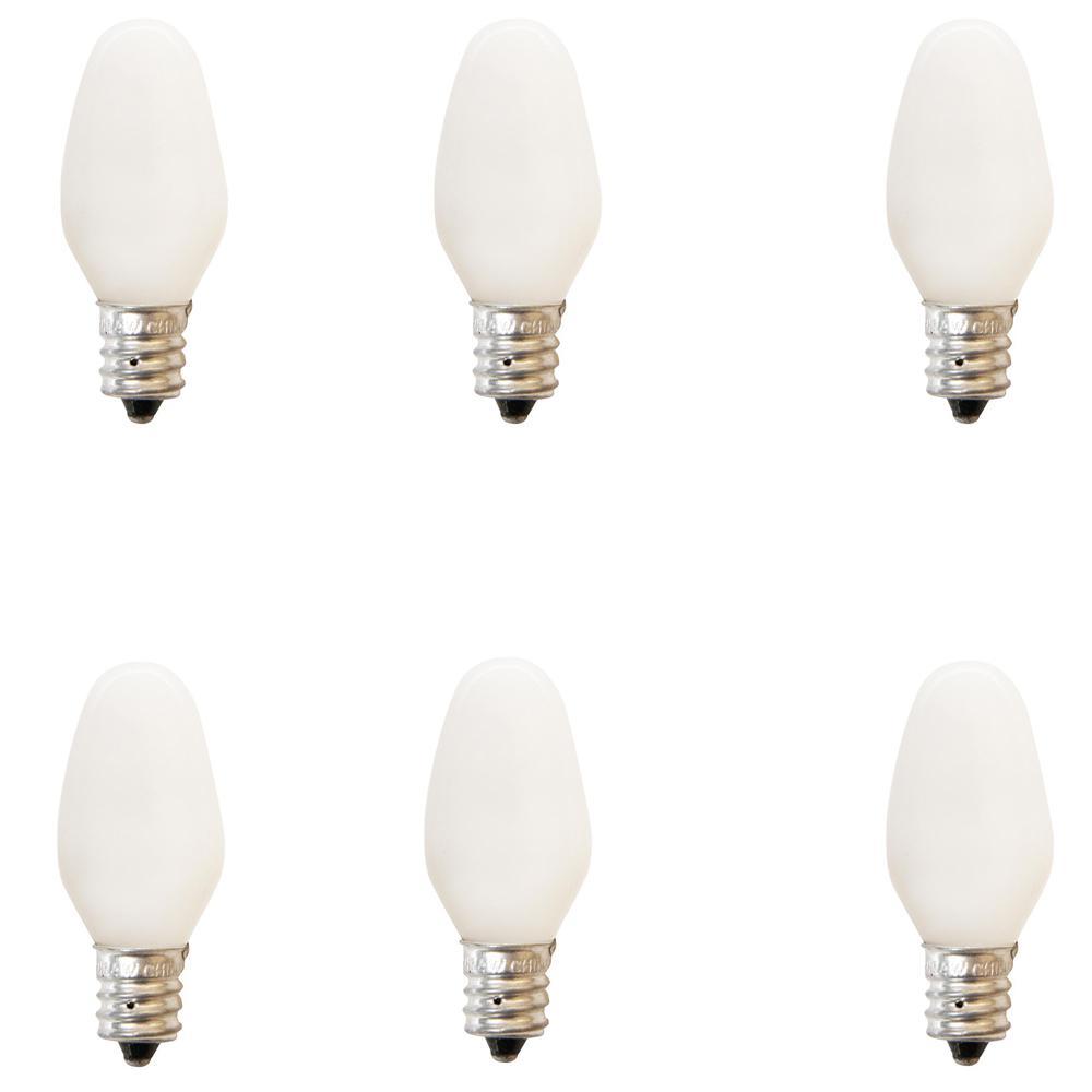 4-Watt Incandescent White C7 Light Bulb (6-Pack)