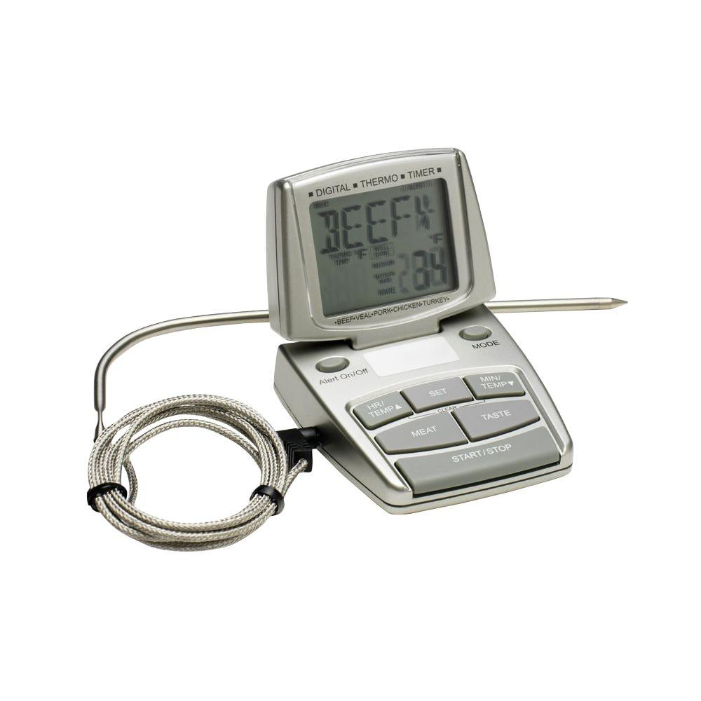 Bradley Smoker Silver Digital Food Thermometer