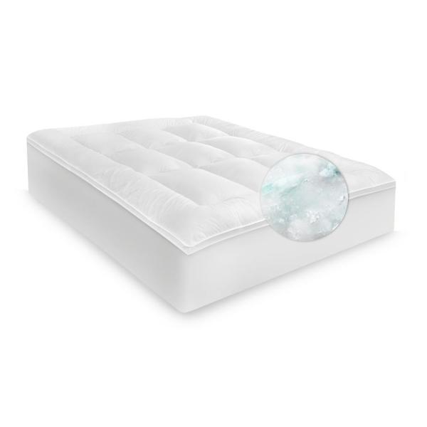 Ecopedic 2 5 In King Polyester Mattress Topper 60895 The Home Depot