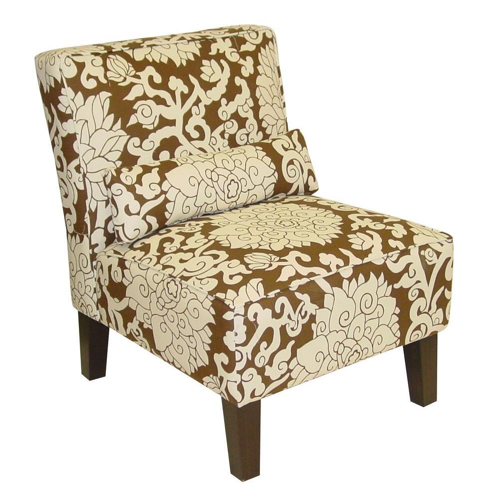 Anita Chocolate Slipper Chair