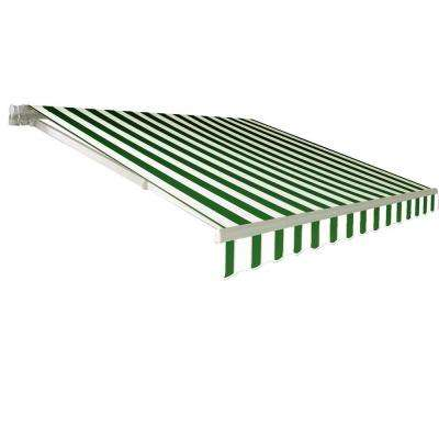 Awntech's 8 ft. California Model Manual Retractable Awning (6 in. H x 84 in. D) in Forest/White