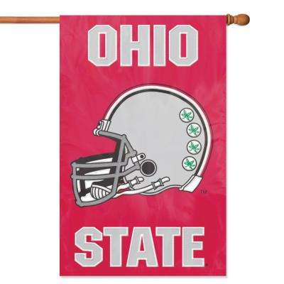 Ohio State Buckeyes Helmet Applique Banner Flag