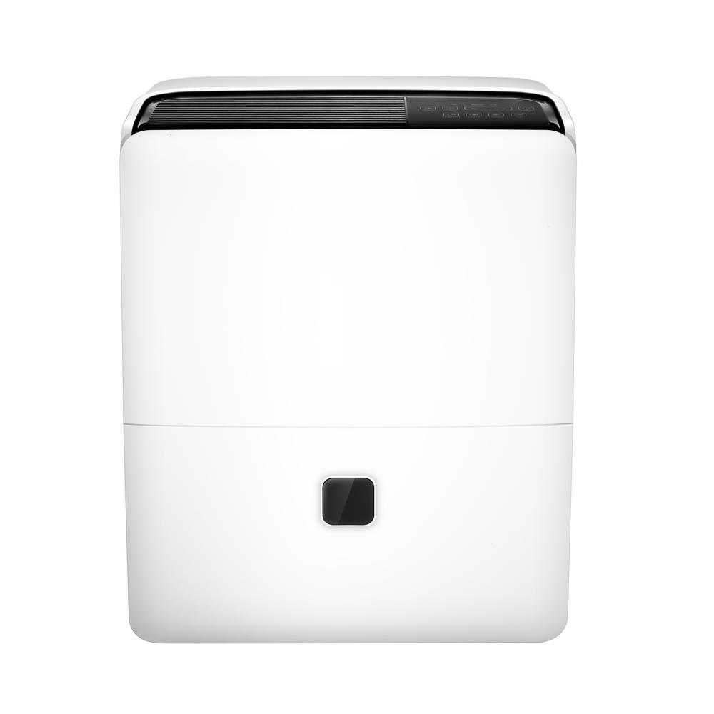 Impecca 95-Pint Dehumidifier with Pump, Grays Protect and prevent your home from mold and mildew with the Impecca Portable Dehumidifier. Extract 95 pints of moisture per day. Aside from the condensation bucket, you can use empty the water via the built-in pump with included pump drain hose or using the continuous draining through an optionally attached standard drain hose. Save money with the Impecca Portable Dehumidifier using energy efficient technology that improves your home environment and keeps air healthy and smelling fresh. Color: Grays.