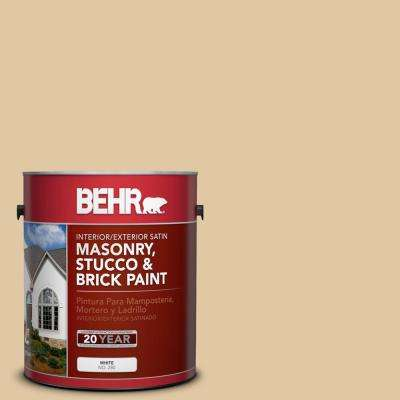 1 gal. #PPU7-19 Crepe Satin Interior/Exterior Masonry, Stucco and Brick Paint