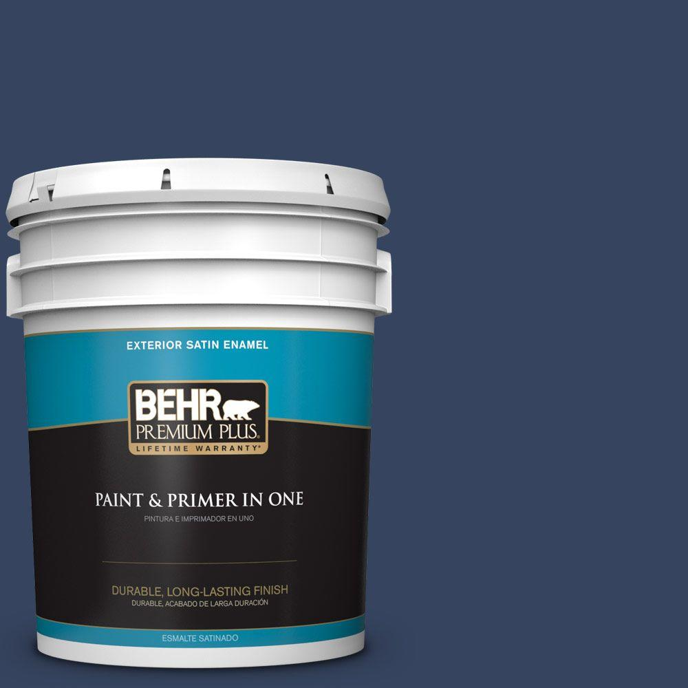 5-gal. #610D-7 Night Watch Satin Enamel Exterior Paint