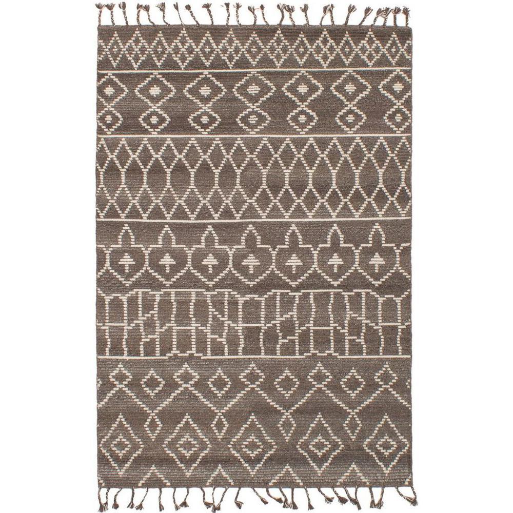 Tangier Brown, Dark Grey 5 ft. x 8 ft. Indoor Area Rug