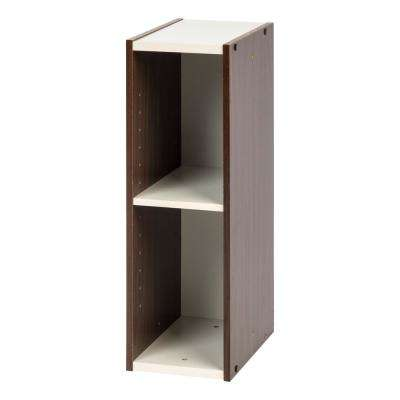 Sema Series Walnut Brown 8 in. x 23 in. Narrow Space Saving Shelf